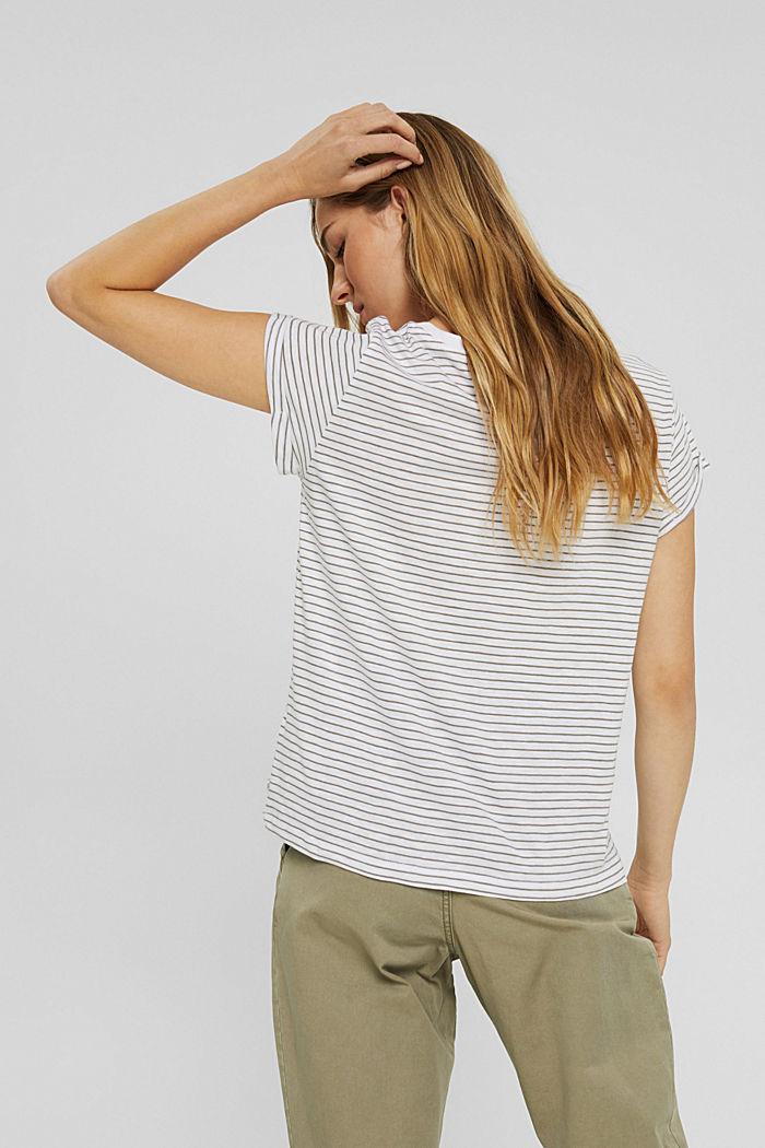 Streifen-T-Shirt aus 100% Bio-Baumwolle, WHITE, detail image number 3