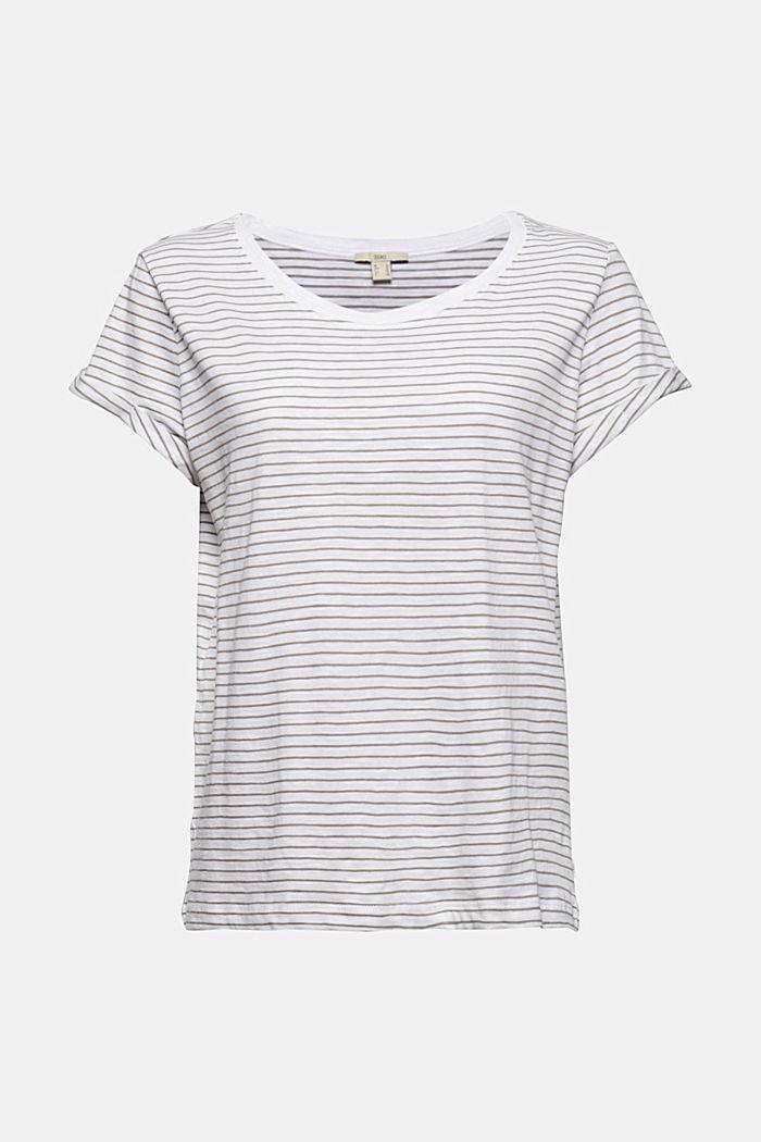 Streifen-T-Shirt aus 100% Bio-Baumwolle, WHITE, detail image number 6