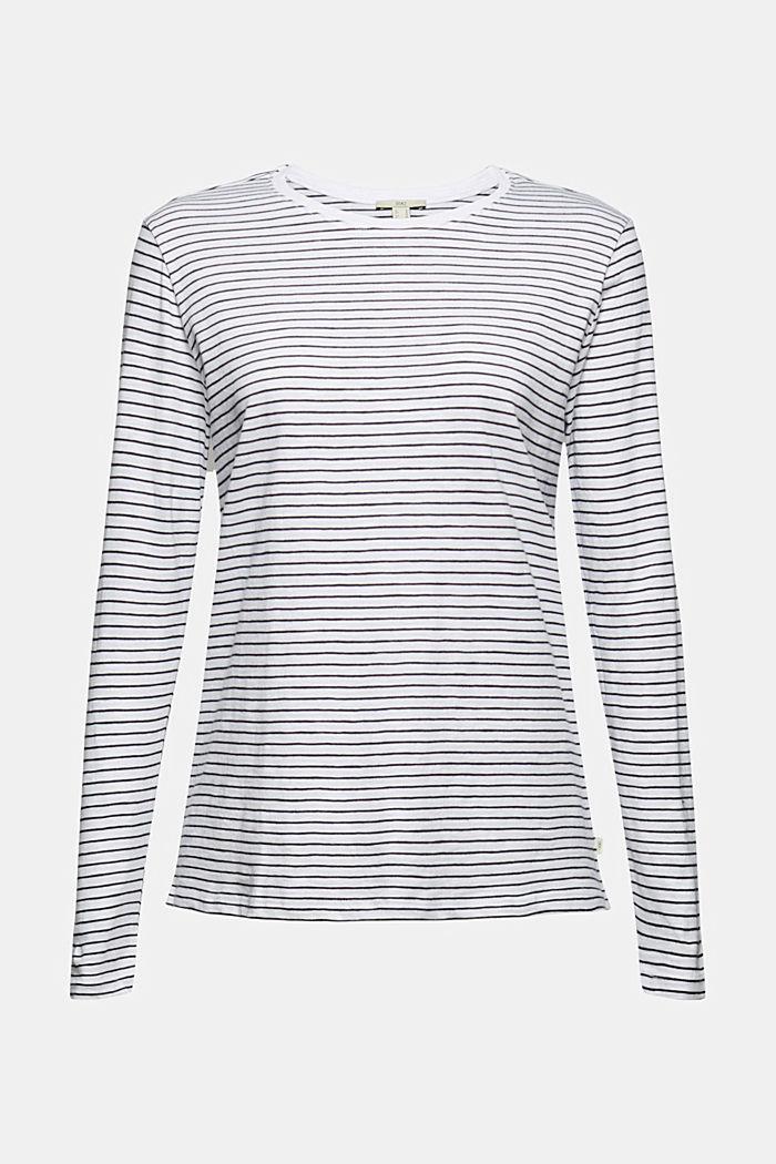 Streifen-Longsleeve aus 100% Bio-Baumwolle, WHITE, detail image number 5