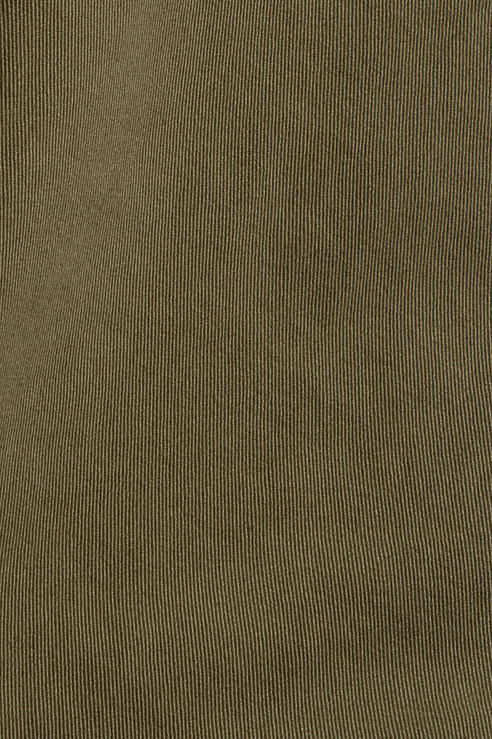 Stretch cotton cargo trousers, KHAKI GREEN, detail image number 4