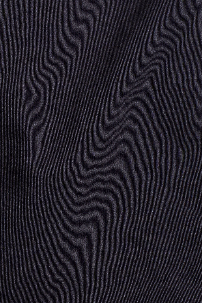 Stretch cotton cargo trousers, DARK BLUE, detail image number 4