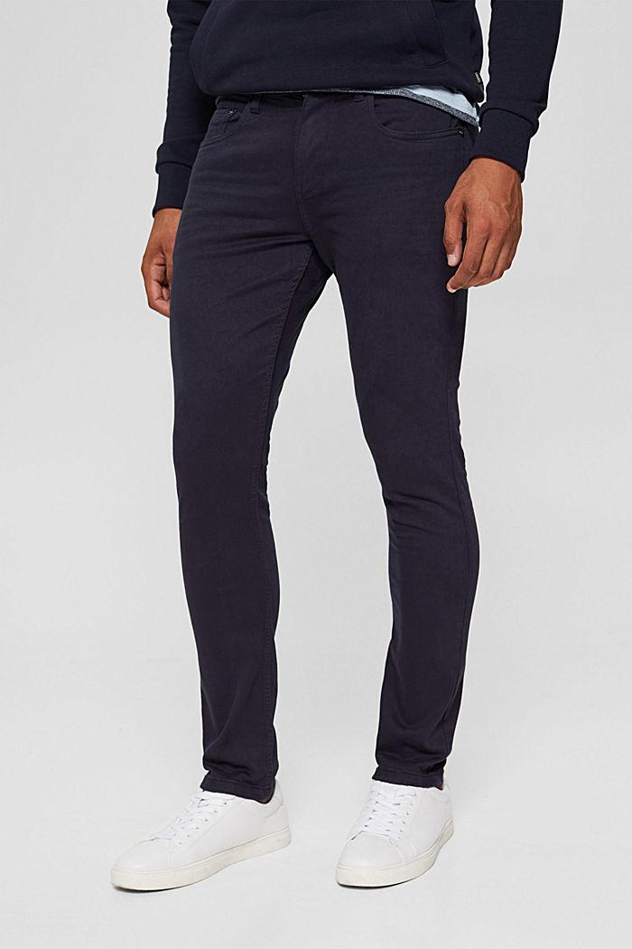Pantalon bi-stretch confortable, DARK BLUE, detail image number 0