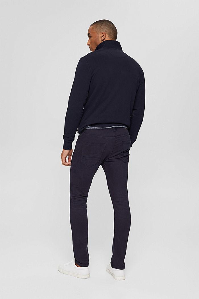 Pantalon bi-stretch confortable, DARK BLUE, detail image number 3