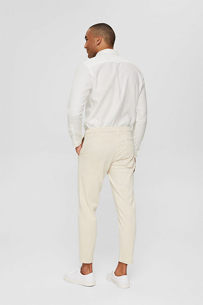 Ankle-length twill trousers with large pockets, SAND, detail image number 3