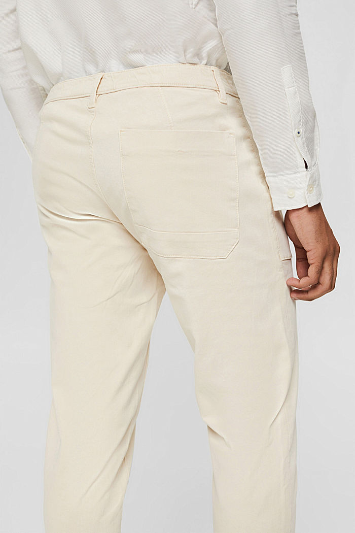 Ankle-length twill trousers with large pockets, SAND, detail image number 5