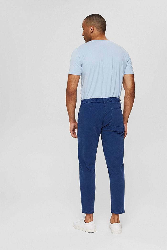 Knöchellange Twillhose mit großem Taschen, DARK BLUE, detail image number 3