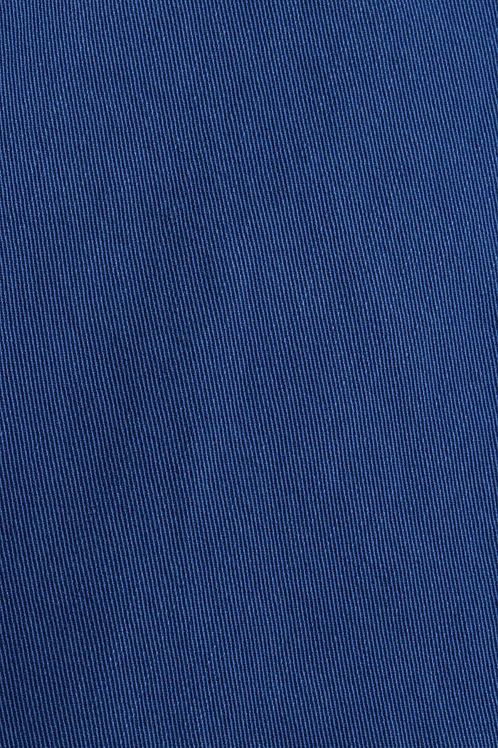 Knöchellange Twillhose mit großem Taschen, DARK BLUE, detail image number 4