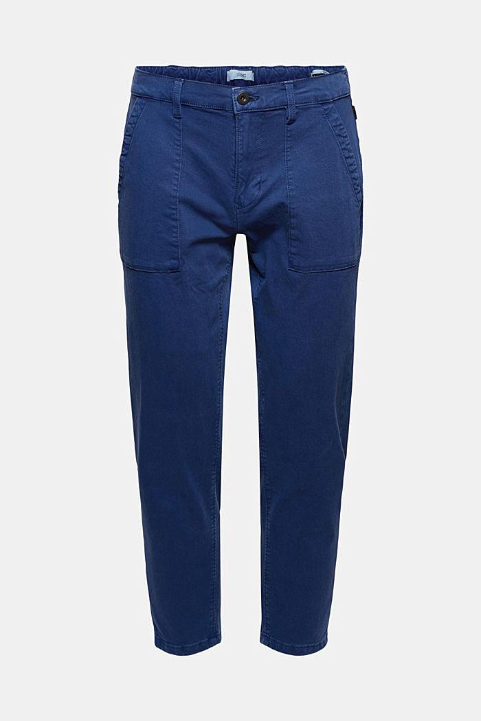 Knöchellange Twillhose mit großem Taschen, DARK BLUE, detail image number 5