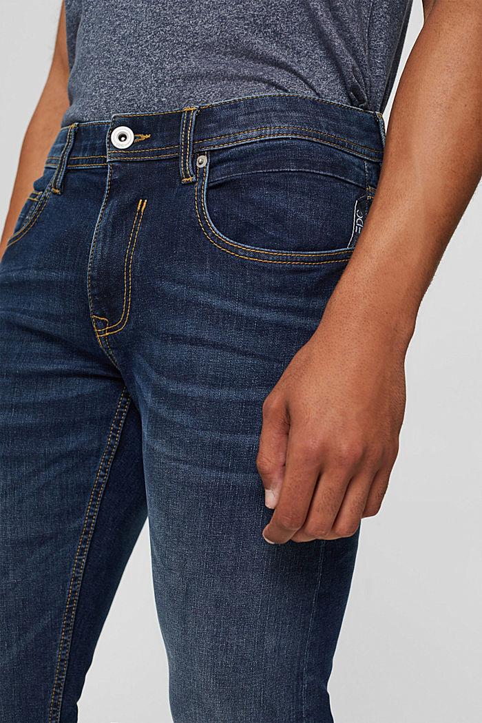 Jean stretch étroit au look délavé, BLUE MEDIUM WASHED, detail image number 3