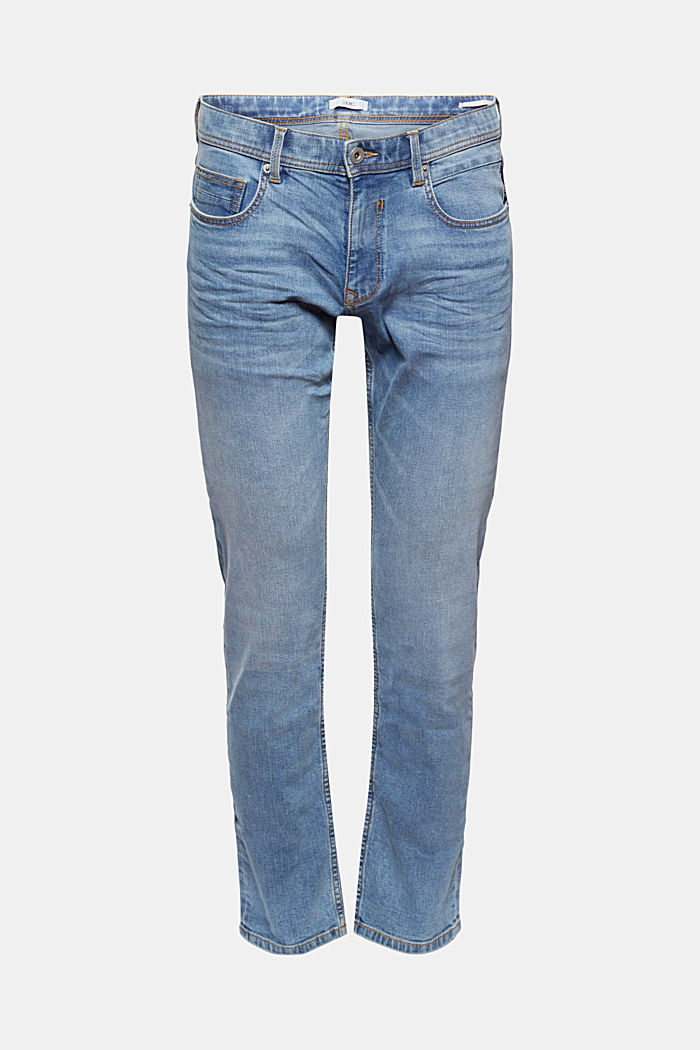 Smalle stretchjeans met garment-washed look