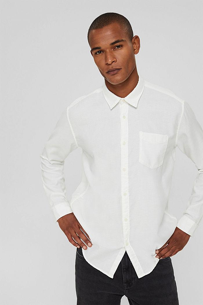 Struktur-Hemd aus 100% Baumwolle, OFF WHITE, detail image number 0