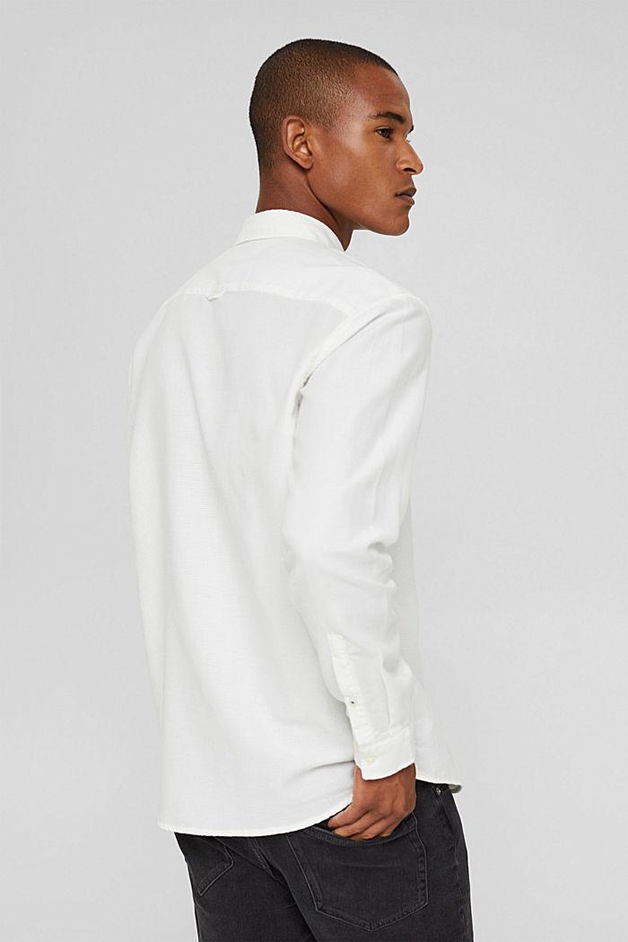 Struktur-Hemd aus 100% Baumwolle, OFF WHITE, detail image number 3
