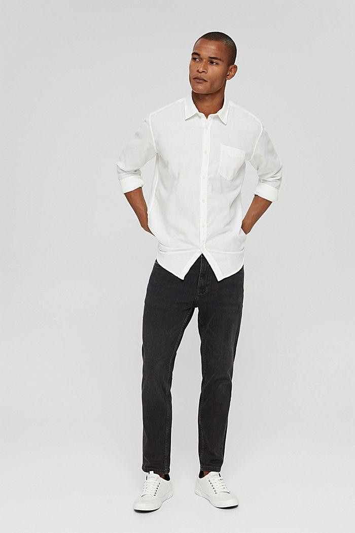 Struktur-Hemd aus 100% Baumwolle, OFF WHITE, detail image number 1