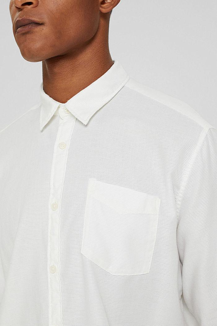 Struktur-Hemd aus 100% Baumwolle, OFF WHITE, detail image number 2