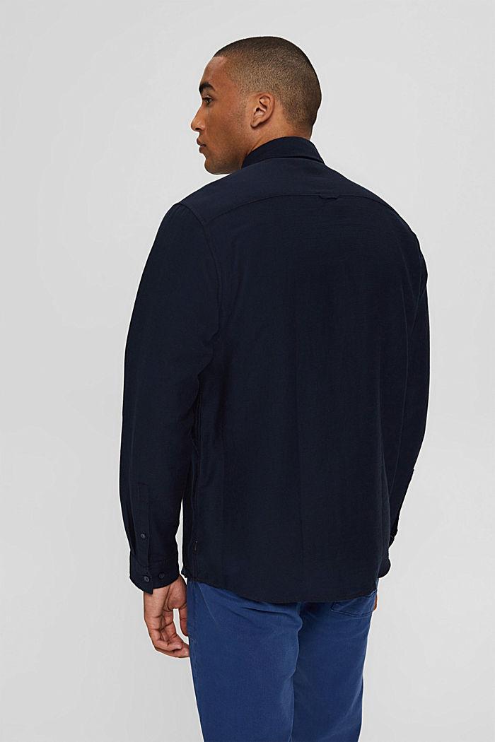 Struktur-Hemd aus 100% Baumwolle, NAVY, detail image number 3