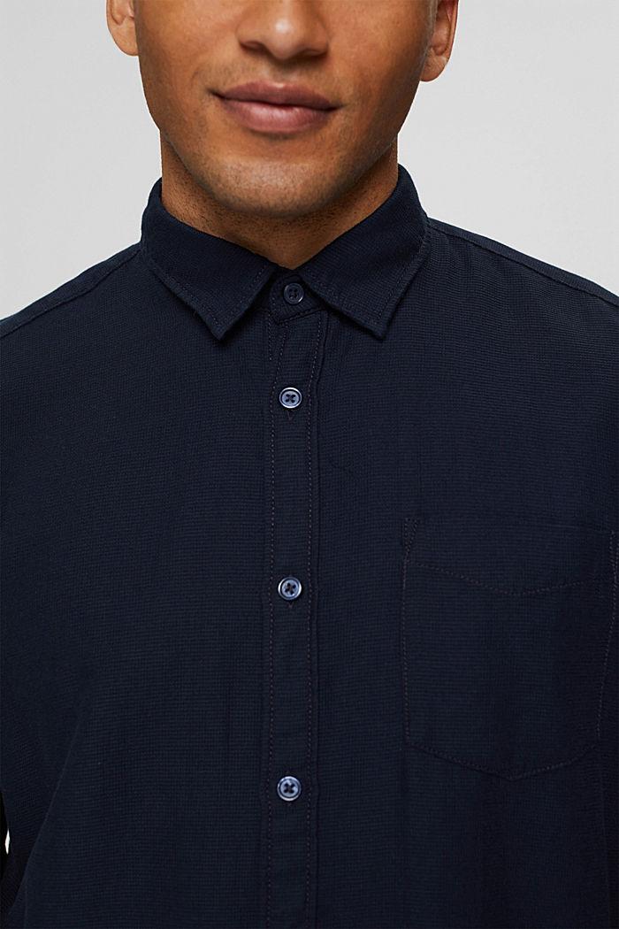 Struktur-Hemd aus 100% Baumwolle, NAVY, detail image number 2