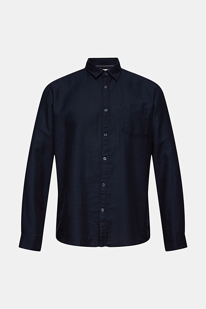 Struktur-Hemd aus 100% Baumwolle, NAVY, detail image number 5