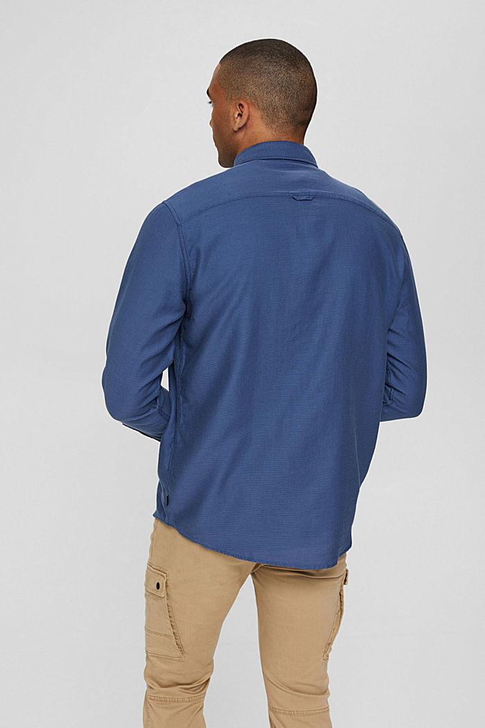 Textured shirt made of 100% cotton, DARK BLUE, detail image number 3