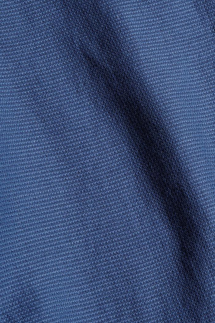 Textured shirt made of 100% cotton, DARK BLUE, detail image number 4
