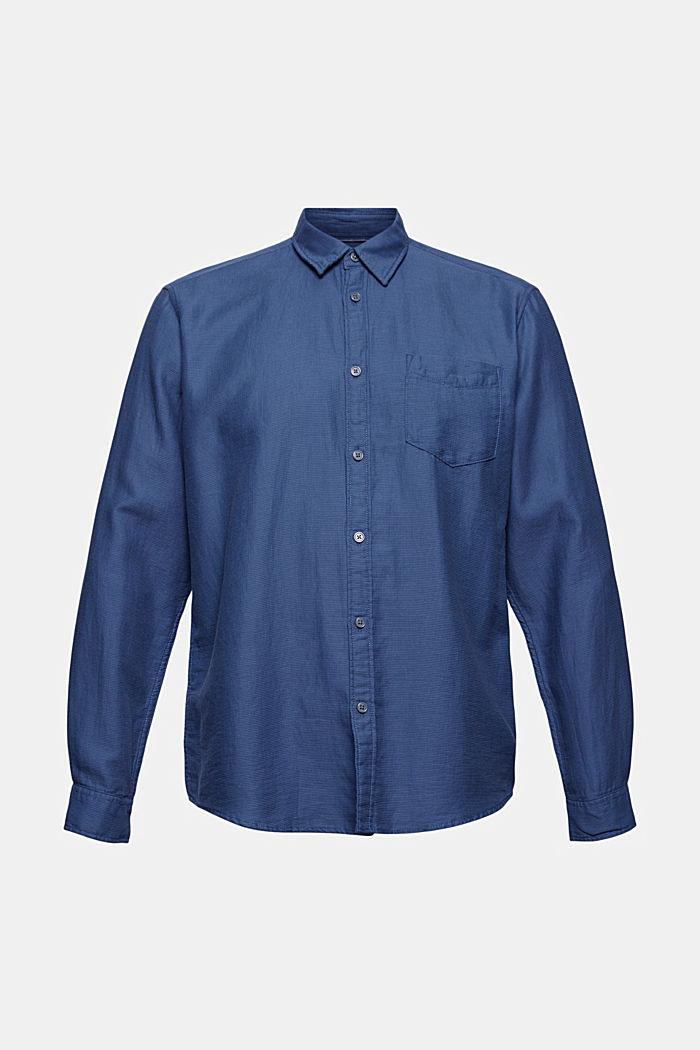 Textured shirt made of 100% cotton, DARK BLUE, detail image number 5