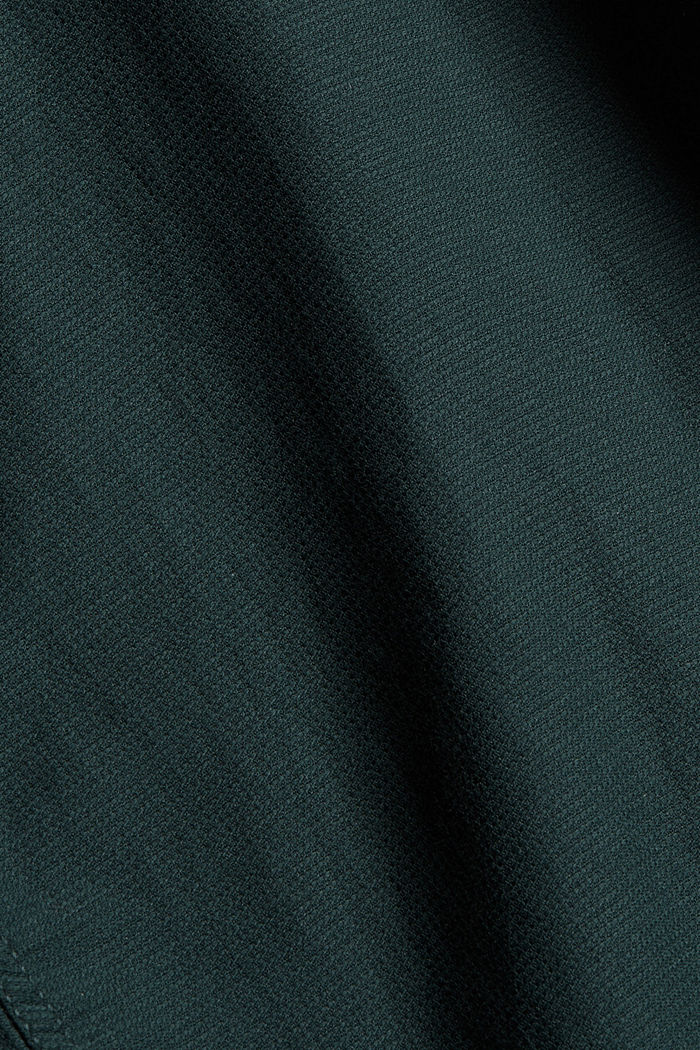 Textured shirt made of 100% cotton, TEAL BLUE, detail image number 4