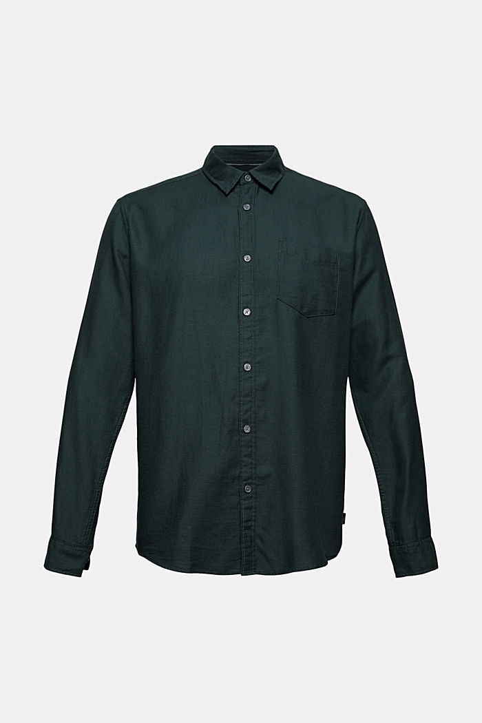 Textured shirt made of 100% cotton, TEAL BLUE, detail image number 5