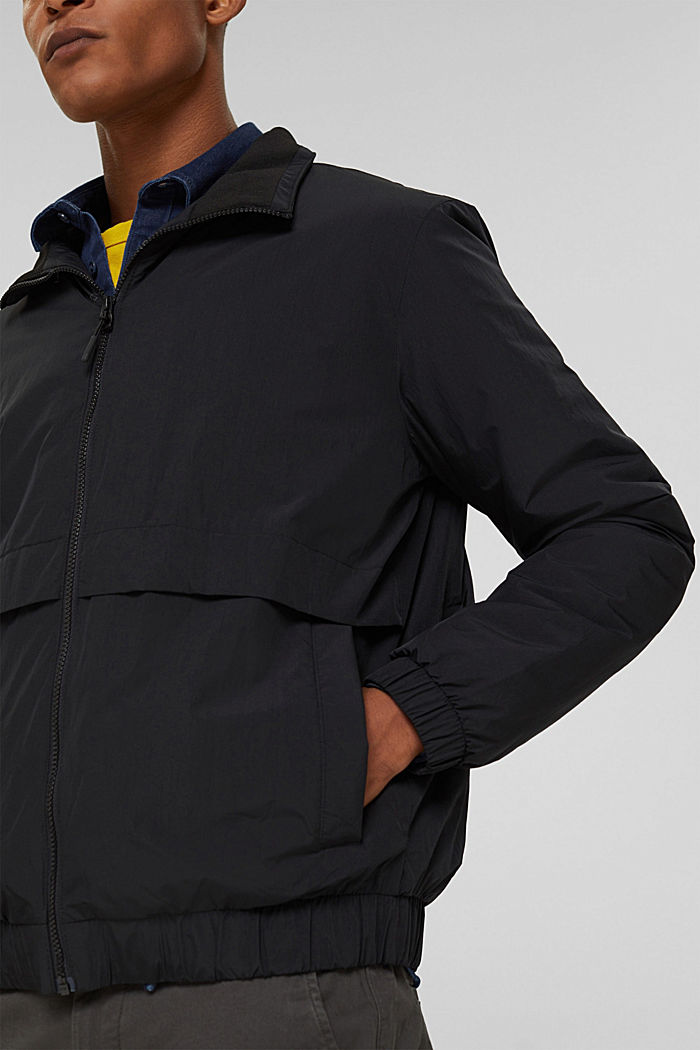 Recycled: bomber jacket, ANTHRACITE, detail image number 2