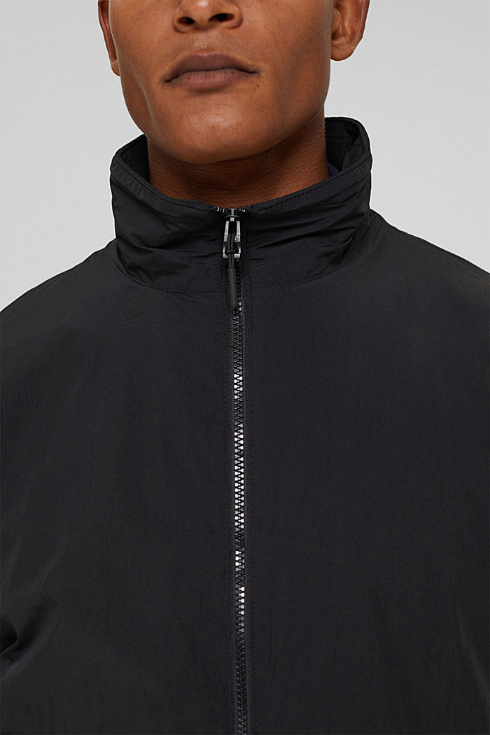 Recycled: bomber jacket, ANTHRACITE, detail image number 7