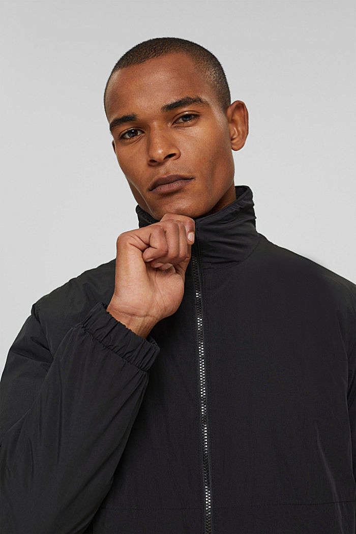 Recycled: bomber jacket, ANTHRACITE, detail image number 6