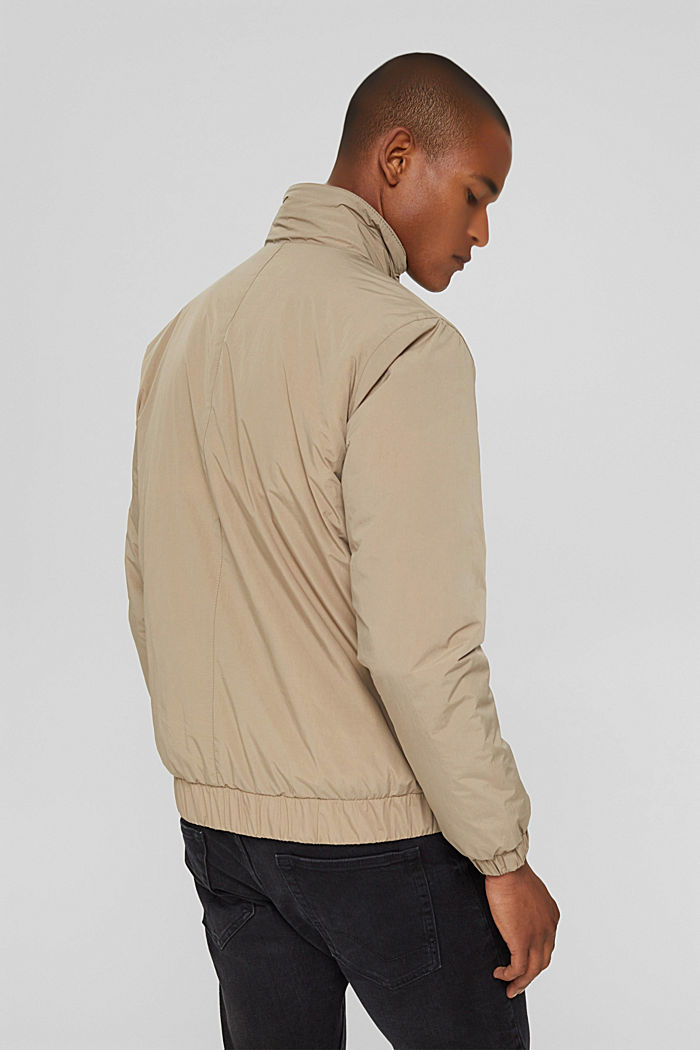 Recycled: bomber jacket, LIGHT TAUPE, detail image number 3