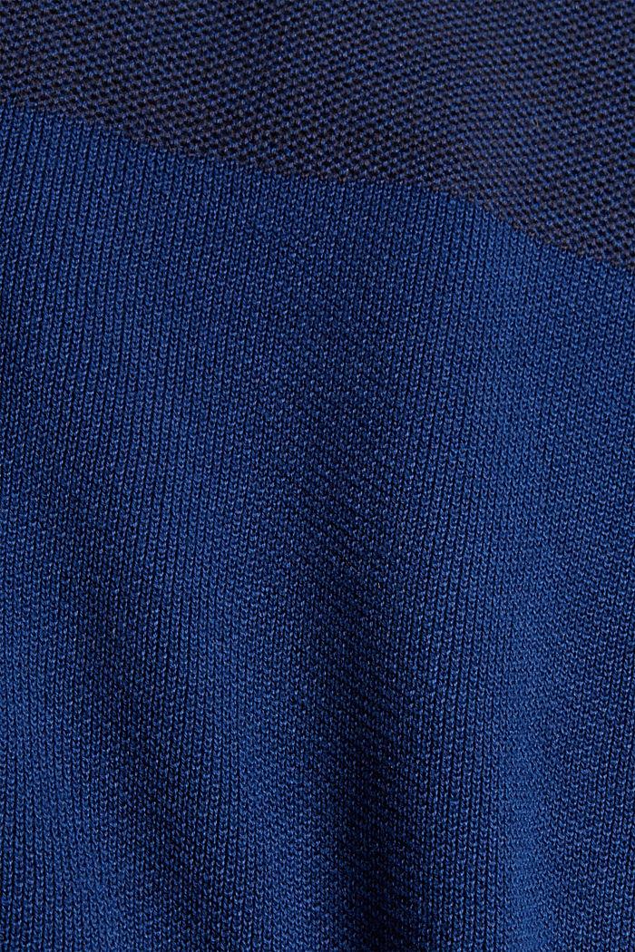Jersey con bloques de color confeccionado en 100% algodón ecológico, NAVY, detail image number 4