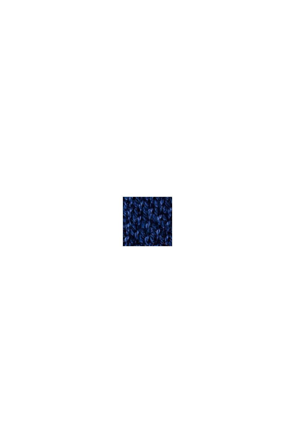 Pull-over color block 100% coton bio, NAVY, swatch