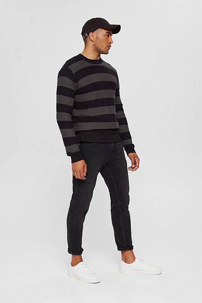 Struktur-Pullover, 100% Organic Cotton, BLACK, detail image number 1