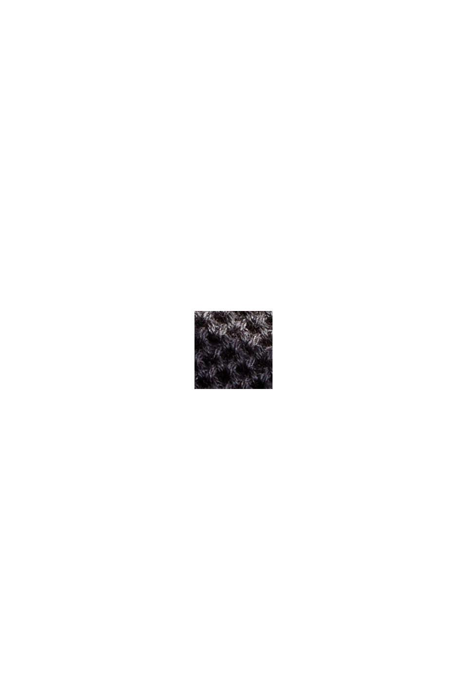 Pull-over texturé, 100% coton biologique, BLACK, swatch