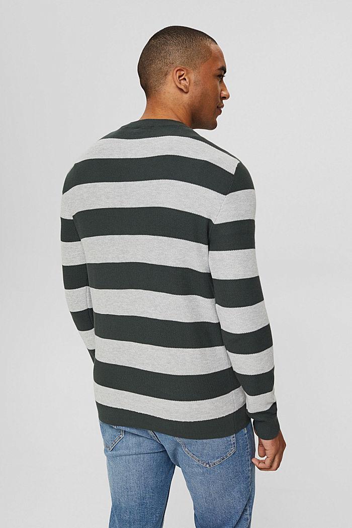 Textured jumper, 100% organic cotton, TEAL BLUE, detail image number 3
