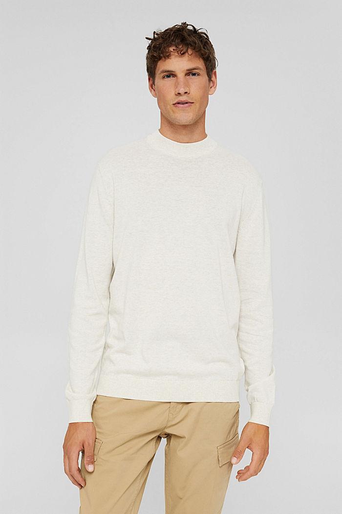 Pullover aus 100% Bio-Baumwolle, OFF WHITE, detail image number 0