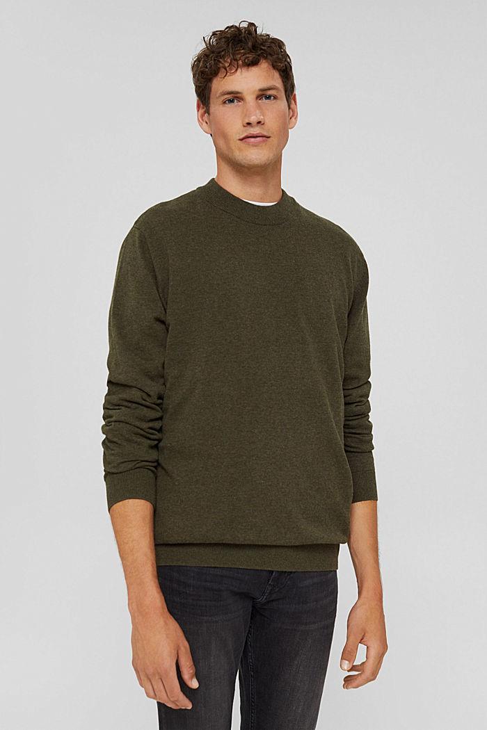 Pullover aus 100% Bio-Baumwolle, DARK KHAKI, detail image number 0