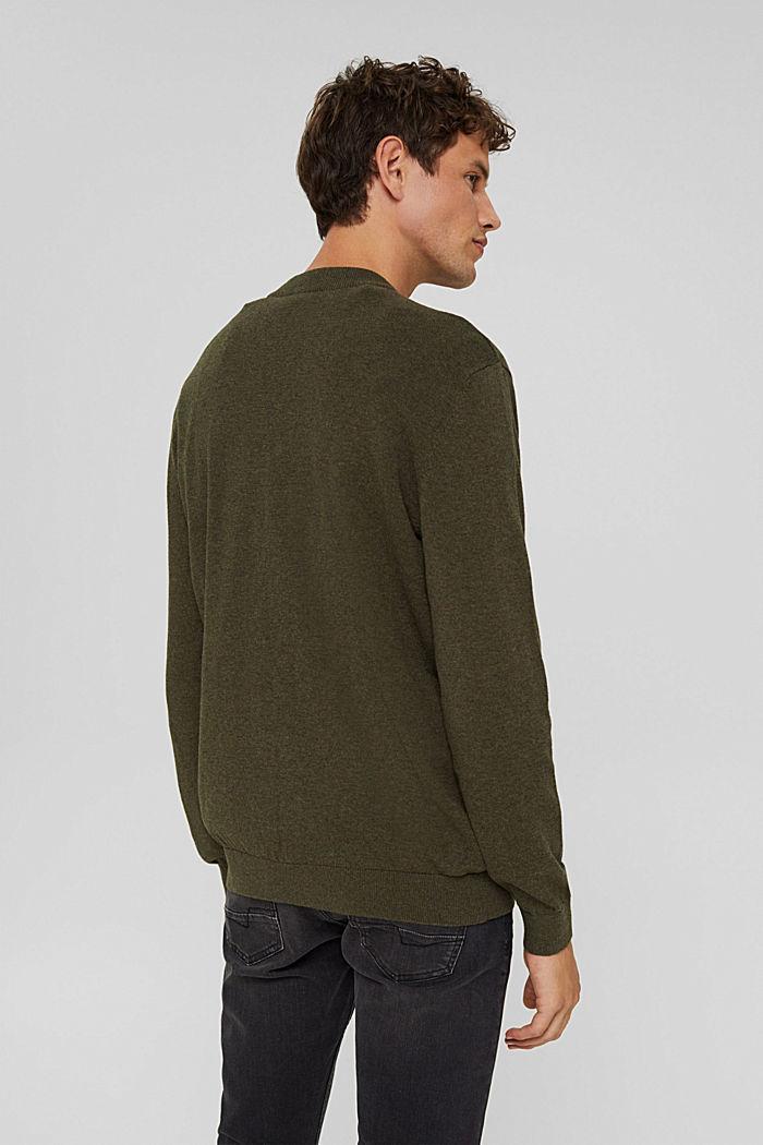 Pullover aus 100% Bio-Baumwolle, DARK KHAKI, detail image number 3