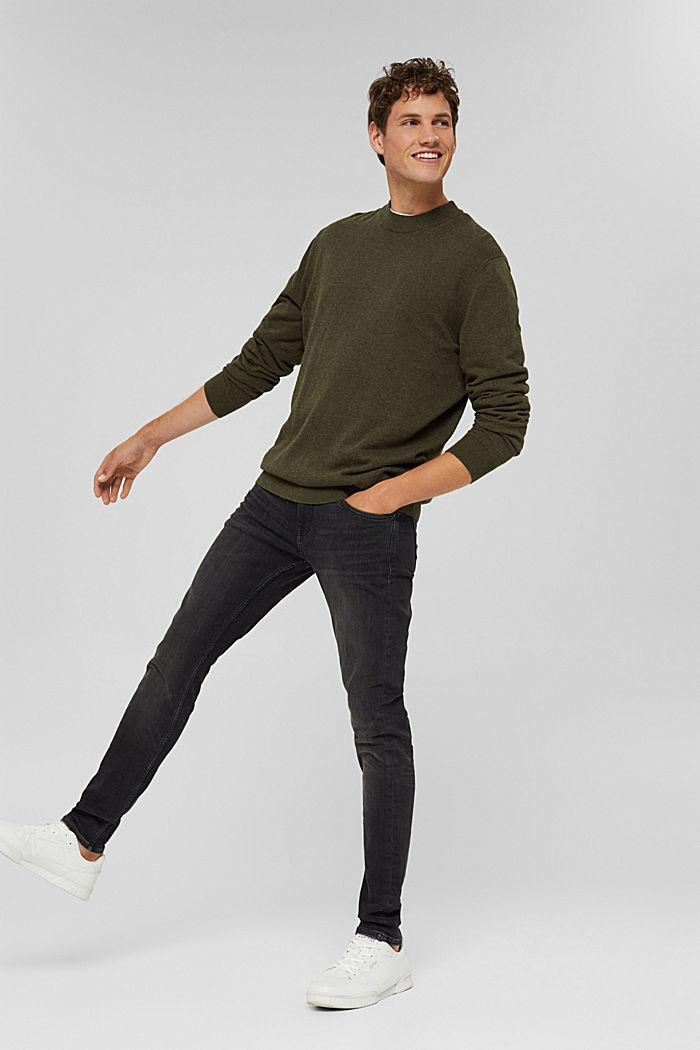 Pullover aus 100% Bio-Baumwolle, DARK KHAKI, detail image number 1