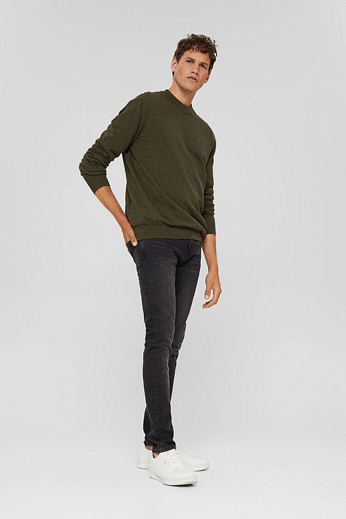 Pullover aus 100% Bio-Baumwolle, DARK KHAKI, detail image number 5