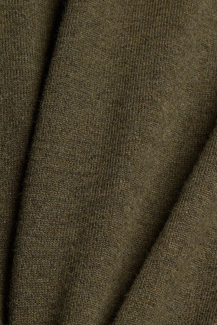 Pullover aus 100% Bio-Baumwolle, DARK KHAKI, detail image number 4