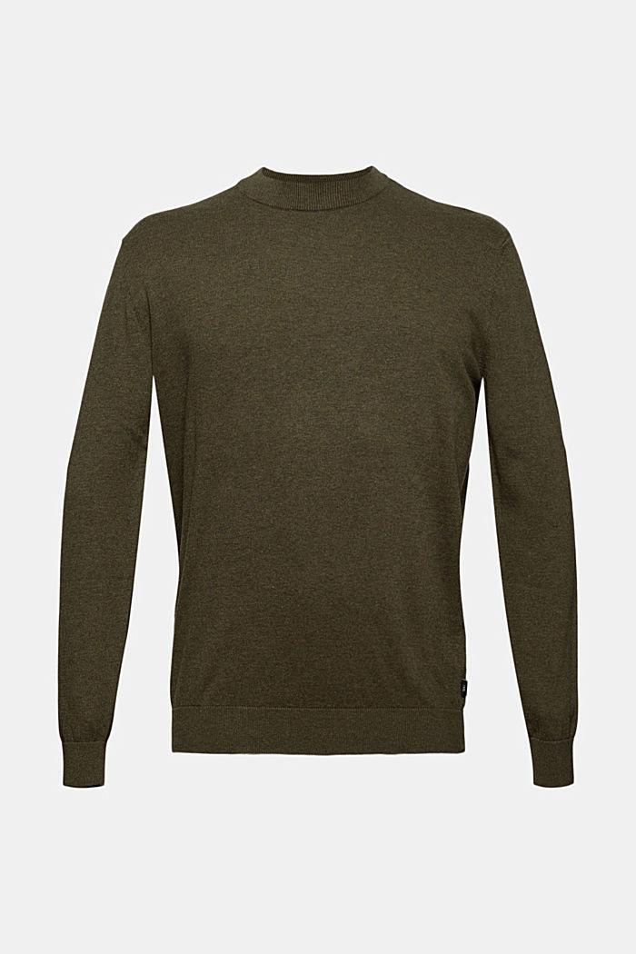 Pullover aus 100% Bio-Baumwolle, DARK KHAKI, detail image number 6