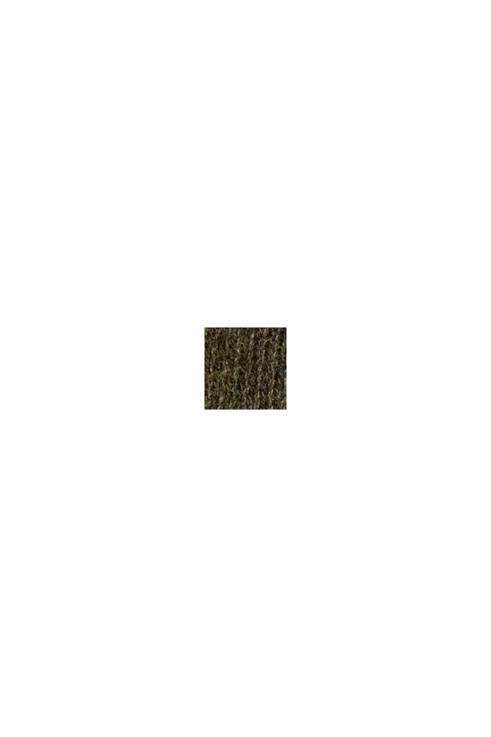 Pullover aus 100% Bio-Baumwolle, DARK KHAKI, swatch