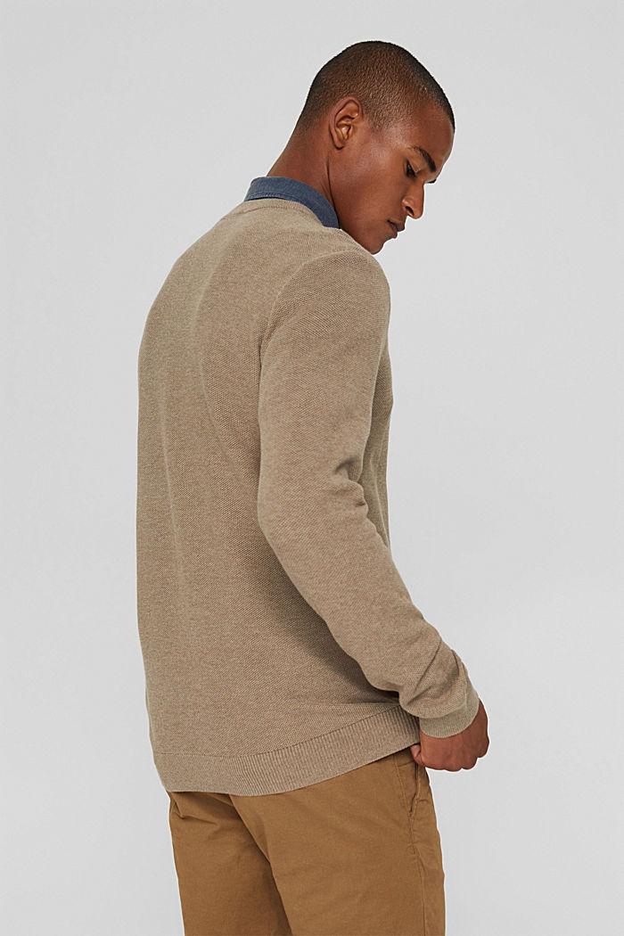 Pull-over texturé, 100% coton biologique, BEIGE, detail image number 3
