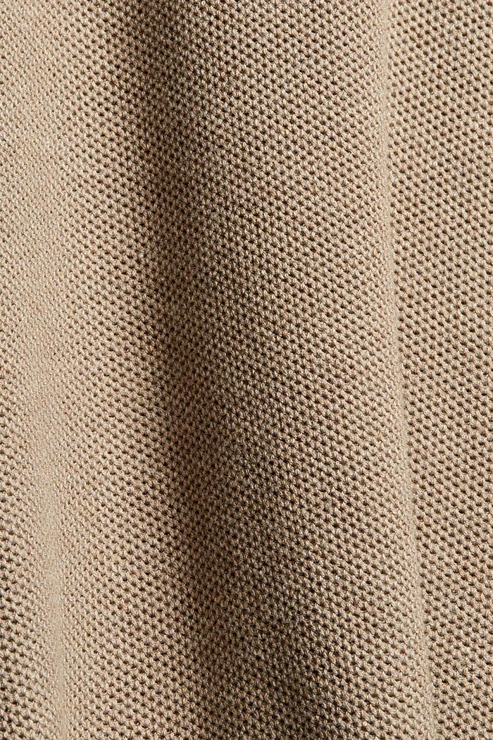 Pull-over texturé, 100% coton biologique, BEIGE, detail image number 4