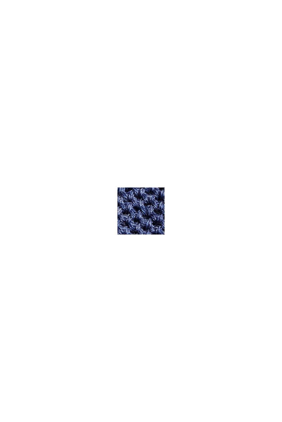 Pull-over texturé, 100% coton biologique, GREY BLUE, swatch