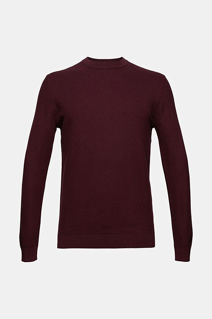Struktur-Pullover, 100% Organic Cotton, BORDEAUX RED, detail image number 6