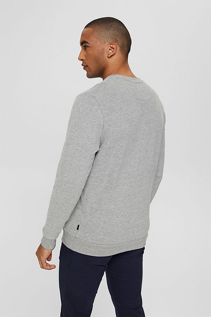 Color Block-Sweatshirt aus Baumwoll-Mix, MEDIUM GREY, detail image number 3