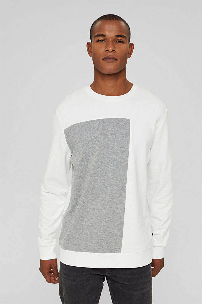 Sweat-shirt en coton mélangé