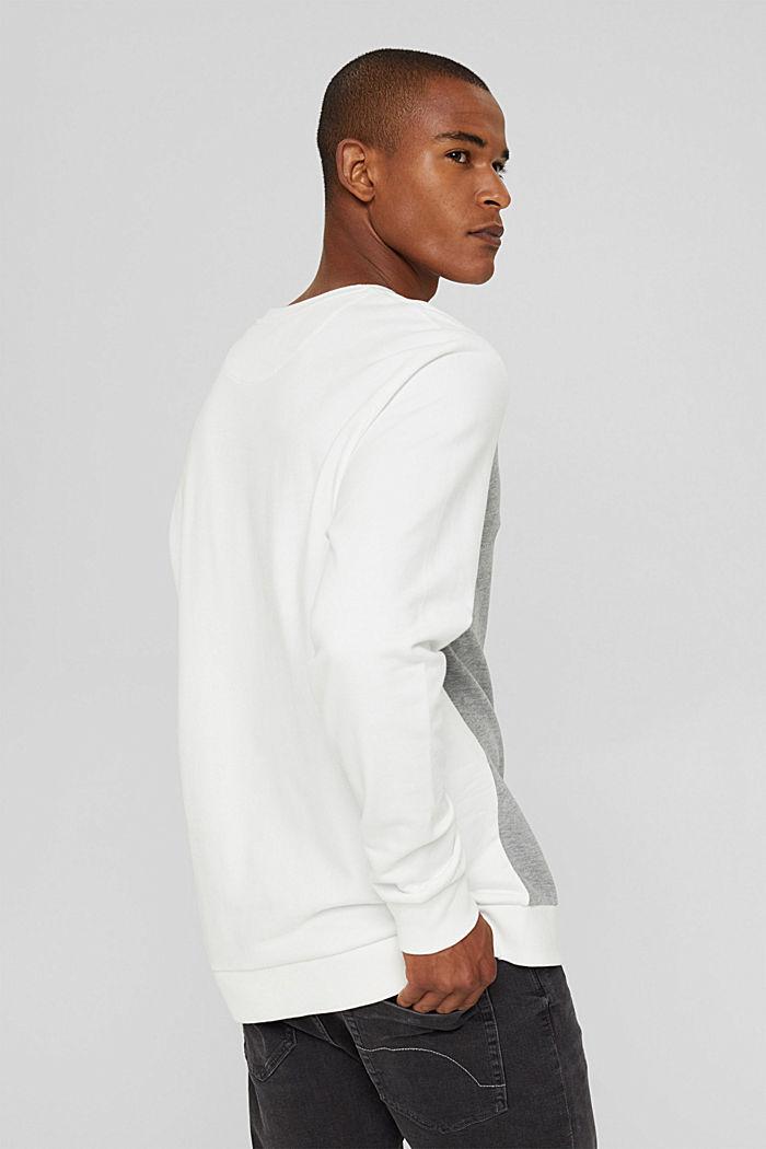 Blended cotton sweatshirt, OFF WHITE, detail image number 3